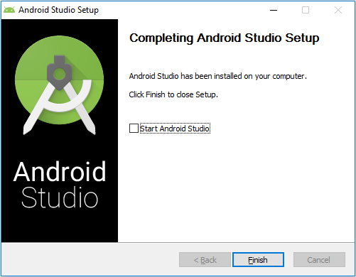 Completing Android Studio Setup - Finish Installation