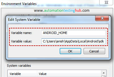 Setup Android Environment Variables - AutomationTestingHub