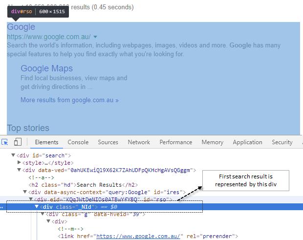 Google com au search