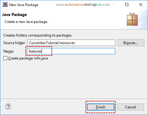 How to add Cucumber feature file in eclipse project