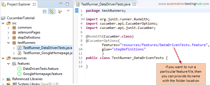 How to add a basic Cucumber data driven test