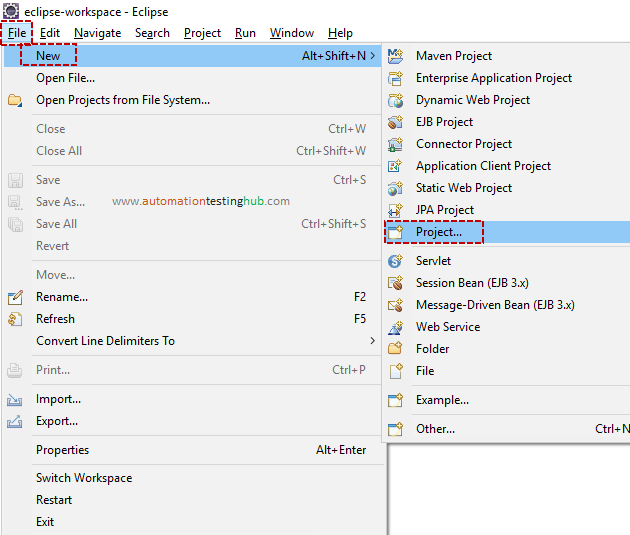 Create new project for Appium in Eclipse - AutomationTestingHub