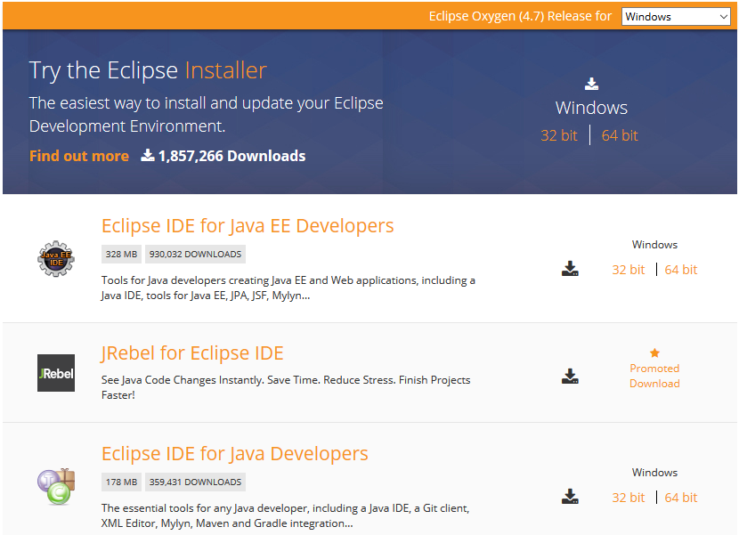 download eclipse for java 64 bit windows