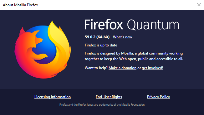 Check if Mozilla Firefox is 32-bit or 64-bit