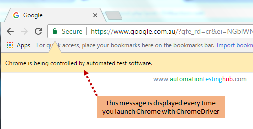 Selenium ChromeDriver - 2 ways to launch Chrome - AutomationTestingHub