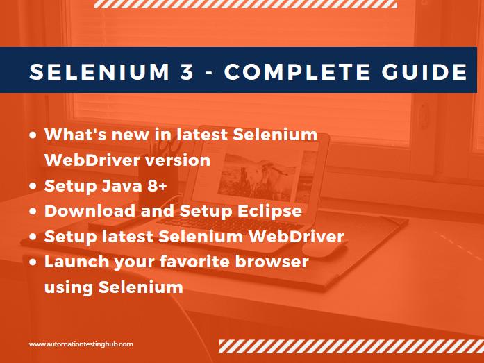 Selenium 3  - Complete Guide