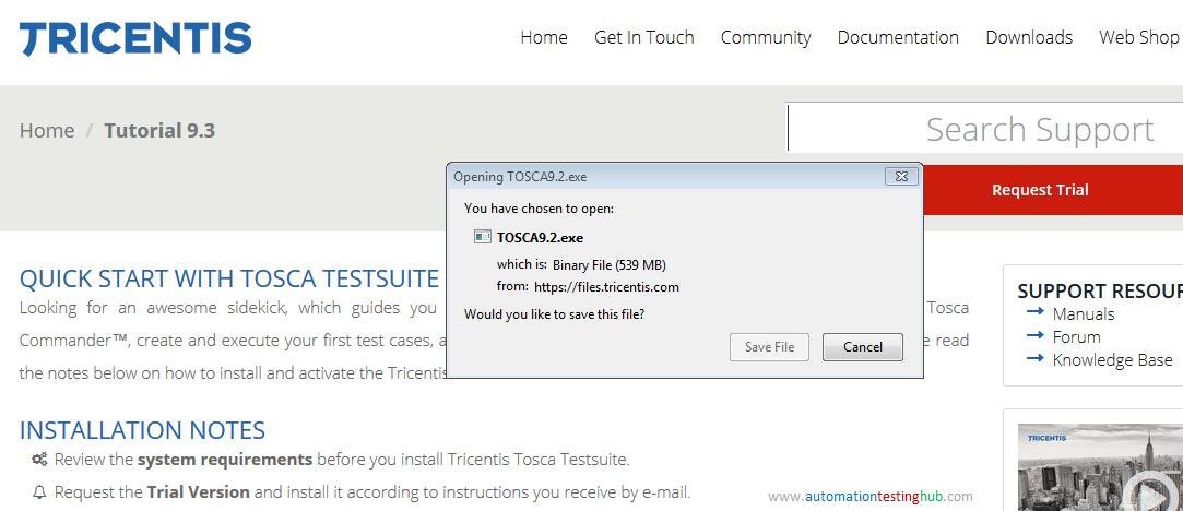 Install tricentis tosca trial version automationtestinghub.