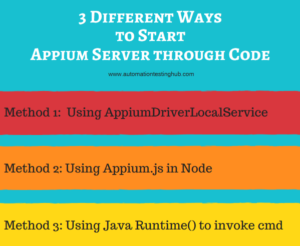 3 ways to start Appium Server from Java