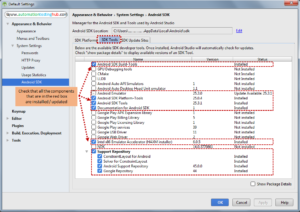 Install additional Android SDK tools
