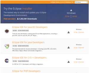 Eclipse IDE – Download and Install