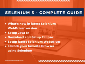 Selenium 3.8 – Complete Guide to the latest Selenium WebDriver