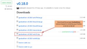 Launch Firefox with Selenium GeckoDriver (updated)