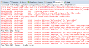 Disable Firefox Logs with Selenium