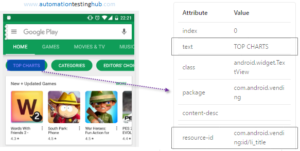 How to use UiSelector to inspect elements on Android